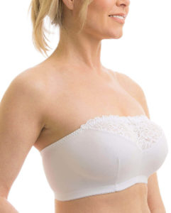 Carole Martin strapless comfort wire free brassiere, best wireless bra for large breasts