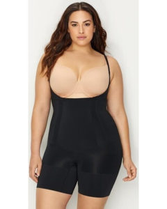 SPANX plus size on-core firm control bodysuit with an open bust for separate bra, best Spanx for tummy control