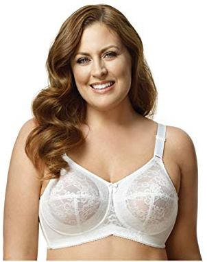 Elila plus size full coverage bra, best wirefree bra for plus size, best wireless laced bra