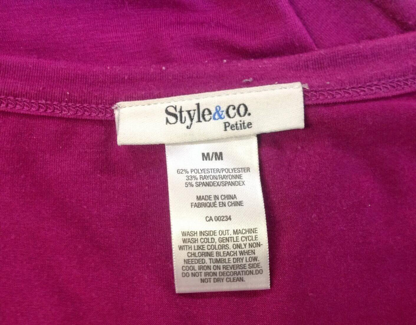 A tag for the washing and care of the best full figure bras