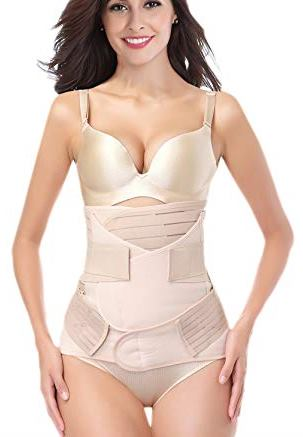 DICOOL 3 in 1 belly, waist and pelvis recovery support girdle corset for after child birth, best belly wrap post pregnancy