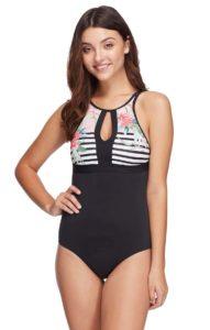 Skye Women's Olivia High-Neck 1 Piece Swimsuit, best bathing suits to hide tummy