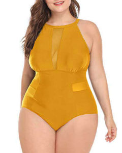 Daci Women's best plus size bathing suit with tummy control, best swimsuit style for plus size