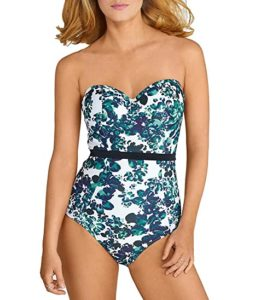 Panache Swim Women's Florentine Molded Bandeau Bra-Sized One Piece Swimsuit, best tummy control bathing suits, best swimsuit for big belly