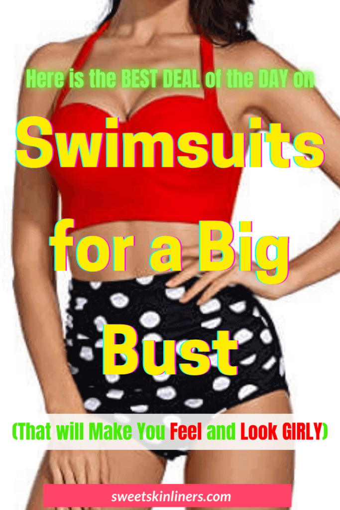 Product curation and a purchase guide for the best swimsuits for large bust, best bathing suits for large bust, best swimsuits for big busts, best bathing suits for big bust, best bikini top for large bust, best bathing suit for large bust, swimsuits for large busts