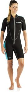 Cressi Women's Short Front Zip Wetsuit for Water Surfing, Snorkeling, scuba diving and other water sports