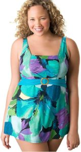 Plus size swimdress for women by Lane Bryant