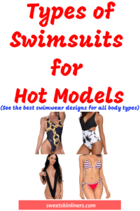 A review of the different types of swimsuits, types of bathing suits, types of swimwear, type of bikini bottoms, best swimsuit for your body type
