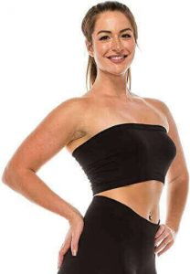 Kurve Seamless Bandeau tube top - UV Protective Fabric, Rated UPF 50+ (Non-Padded) -Made in USA