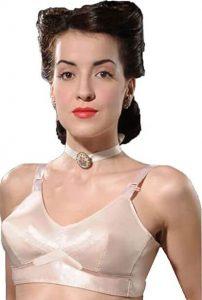 What Katie Did 1940s Vintage Peach Bullet Bra for women