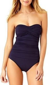 Anne Cole Women's Twist Front Shirred One-Piece Swimsuit. One of the best swimsuits for a slim bikini body