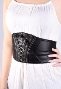 EBOOT Elastic Wide Waist Belt Tied Corset Cinch Belt with Press Button. Best women's shapewear waist cincher. Get one of these waist belts if you are wondering- how can I hide my belly fat in a tight dress?