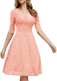 JASAMBAC Cocktail Dress for Women Vintage Wedding Guest Lace Midi Dress Party. What Colors Are You Not Supposed To Wear To a Wedding? Discover the hues and styles you should not wear as a wedding guest