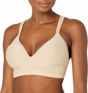 Bali Women's Comfort Revolution Wirefree Bra - the best wireless bra for lift and side support. best bra to relieve shoulder pain. Best bra for shoulder blade pain