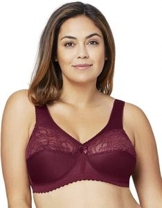 Glamorise Women's Full Figure Plus Size MagicLift Original Wirefree Support Bra- best plus size bra for shoulder pain