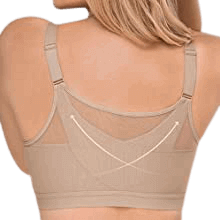 Leonisa Criss Cross Posture and Back Support Bra for Women with Full Coverage – the best posture corrector bra