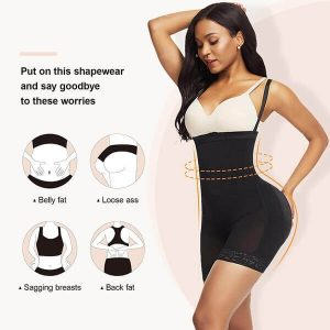FeelinGirl Best Body Shaper for Women, Best Tummy Control Shapewear with Side Zipper Open Bust Fajas for Ladies Daily Life