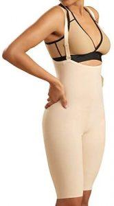 Marena Recovery Zipperless Knee Length Girdle with Suspenders -Stage 2. Best shapewear suspenders. Best shapewear hook-me-ups